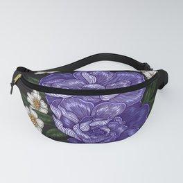 Purple Flowers Fanny Pack