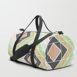 Retro Mod Diamonds Duffle Bag