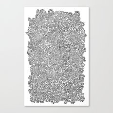 Shapes Doodle Canvas Print