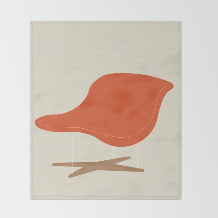 orange la chaise chair by charles ray eames throw blanket - Chaise Orange