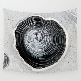 The Hole (Black and White) Wall Tapestry