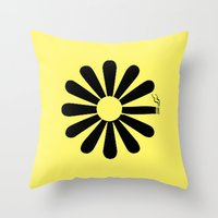 looking for alaska Throw Pillows featuring Looking for Alaska by green.lime