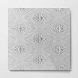Geometric 3 D Architecture Repeat Metal Print