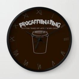 Procaffeinating Wall Clock