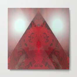 FX#412 - Red Pyramid Bright Metal Print