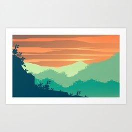 Mt Cheaha Sunset Art Print