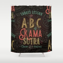 Kama Sutra Lessons Shower Curtain
