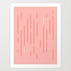 Coral Stripes Art Print