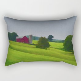 Pure Country Red Barn Art Poster Rectangular Pillow