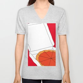 Hot Pizza Box Unisex V-Neck