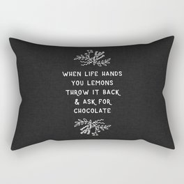 When Life Hands You Lemons BW Rectangular Pillow