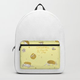 Yellow armadillo pattern Backpack