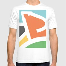 In Rainbow SMALL Mens Fitted Tee White
