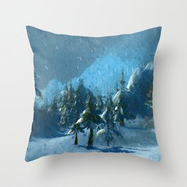Winterspring Throw Pillow