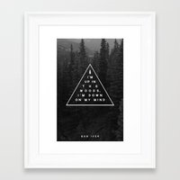 bon iver Framed Art Prints featuring Woods -- Bon Iver by Zeke Tucker