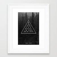 woods Framed Art Prints featuring Woods -- Bon Iver by Zeke Tucker