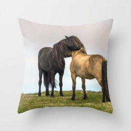 Wonderful Exquisite Farm Animals Socializing UHD Throw Pillow