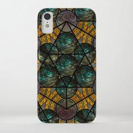Platonic Solid Icosahedron - Aqua iPhone Case