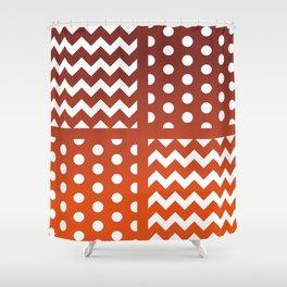 Autumn Gradient/White Chevron/Polkadot Pattern Zigzag Spot Fall Decor #ArtofGaneneK Shower Curtain