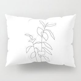 Plant one line drawing illustration - Ellie Pillow Sham