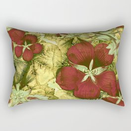 nasturtium with golden leaves Rectangular Pillow