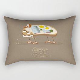 Grumpy Herring Sandwich Rectangular Pillow
