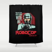 robocop Shower Curtains featuring Robocop  by Buby87