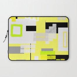 yellow white black silver grey green orange geometric modern art Laptop Sleeve