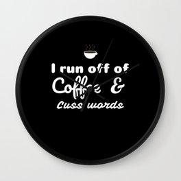 Coffee&Cuss Words Wall Clock