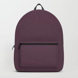 Deep Eggplant Purple Color Backpack