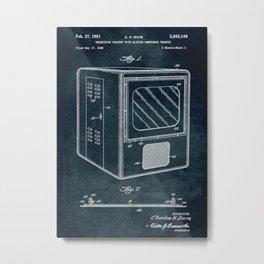 1948 Television cabinet patent art Metal Print