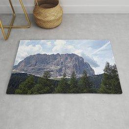 Alpine Fir Forest Mountain Peaks Landscape Rug