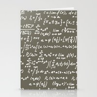 math Stationery Cards featuring Math by beach please