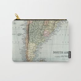 Vintage Map of the South of America Carry-All Pouch