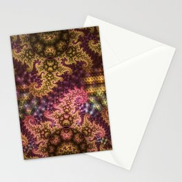 Dragon dreams, fractal pattern abstract Stationery Cards