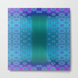 BLUE BUZZ Metal Print