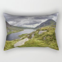 Tryfan and Lake Ogwen Rectangular Pillow