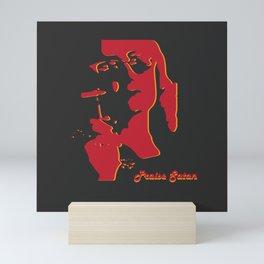 Praise Satan Silhouette Mini Art Print