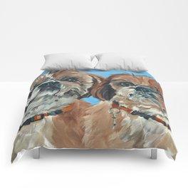 Shih Tzu Buddies Dog Portrait Comforters