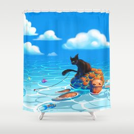 A hot summers day Shower Curtain