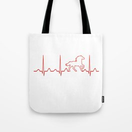 HORSE HEARTBEAT Tote Bag