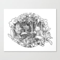 Disorderton (3D papercut) Canvas Print