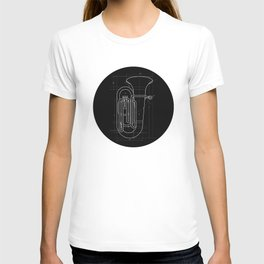 Geometric Tuba T-shirt