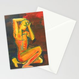 Migraine on Red Stationery Cards