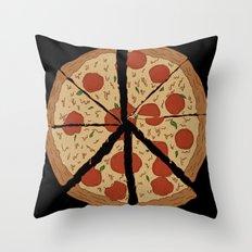 PEACE-A-PIZZA Throw Pillow