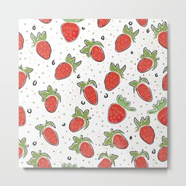 stawberry Metal Print