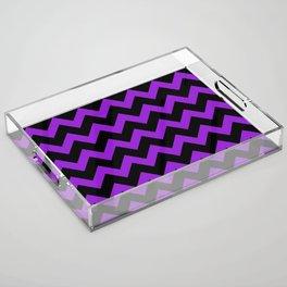 Purple Chevron Acrylic Tray