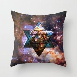Carina Nebula // Star Tetrahedron Throw Pillow