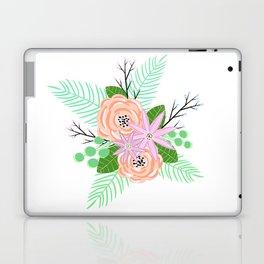 Modern Peach Florals Laptop & iPad Skin
