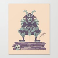 samurai Canvas Prints featuring Samurai by Josh Belden